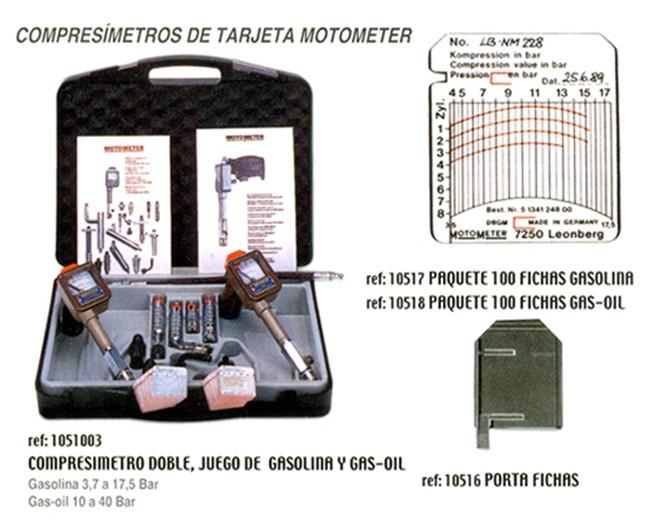 CompresÍmetros MotoMeter - maletín con gasolina y diesel