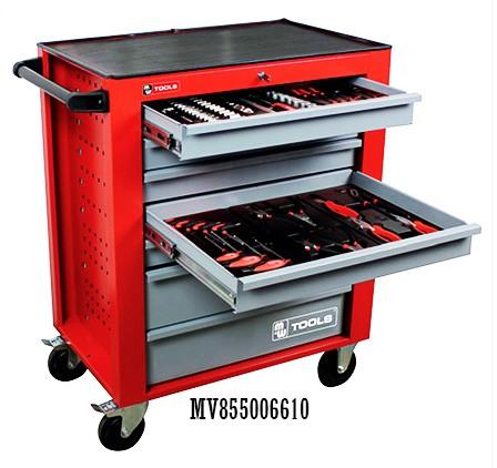 Carro portaherramientas de taller 6 cajones. dotación 160 herramientas f604e4830544